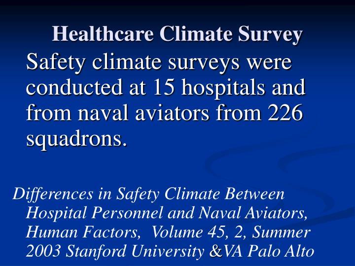 Healthcare Climate Survey