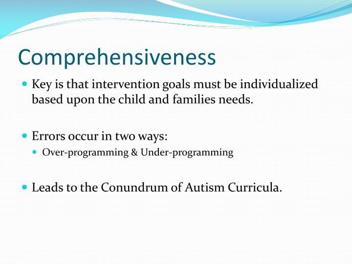 Comprehensiveness