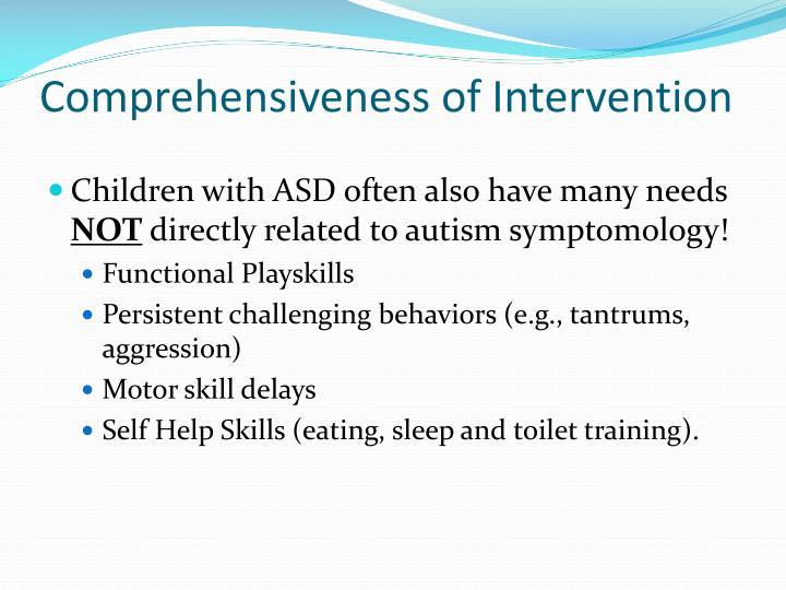 Comprehensiveness of Intervention
