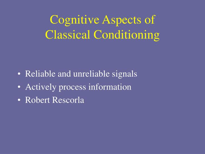 Cognitive Aspects of