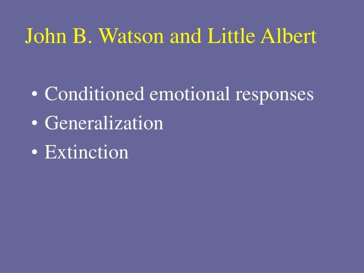 John B. Watson and Little Albert