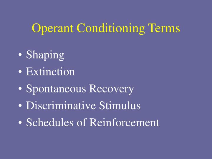 Operant Conditioning Terms