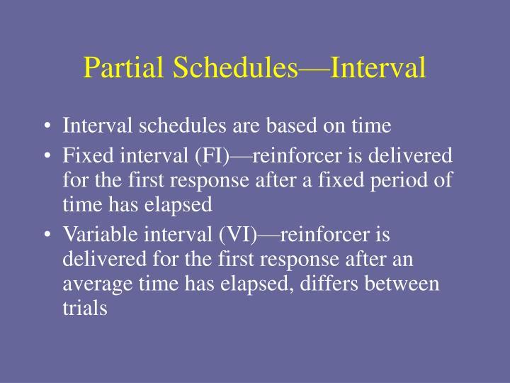 Partial Schedules—Interval
