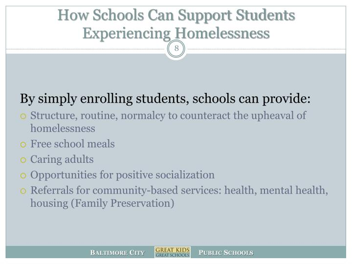 How Schools Can Support Students Experiencing Homelessness
