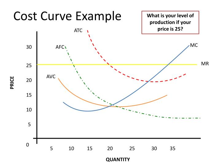 Cost curve example