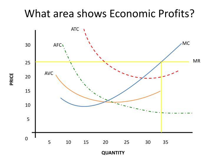 What area shows Economic Profits?