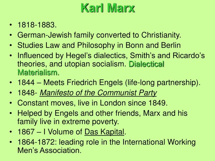 the views and theories and the philosophers who infulenced karl marx Is karl marx still relevant he lived in the 19th century, an era very different from our own, if also one in which many of the features of today's society were beginning to take shape.