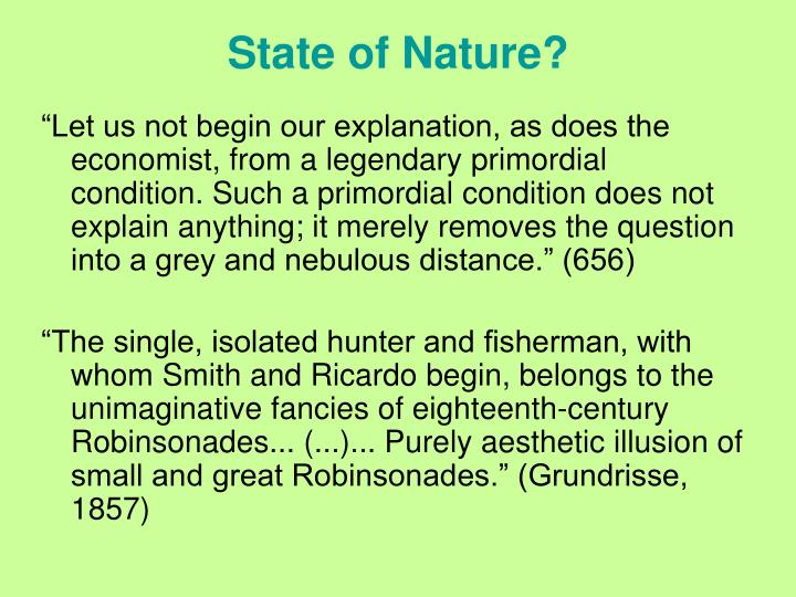 State of Nature?