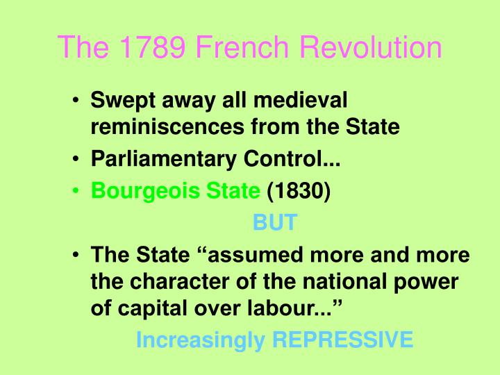 The 1789 French Revolution