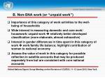 b non sna work or unpaid work