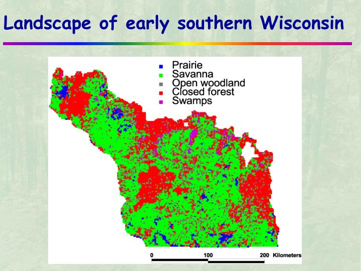 Landscape of early southern Wisconsin