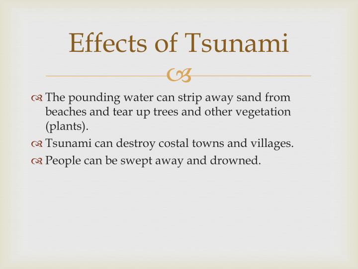 Effects of Tsunami