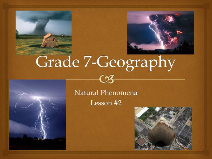 Grade 7-Geography