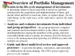 overview of portfolio management