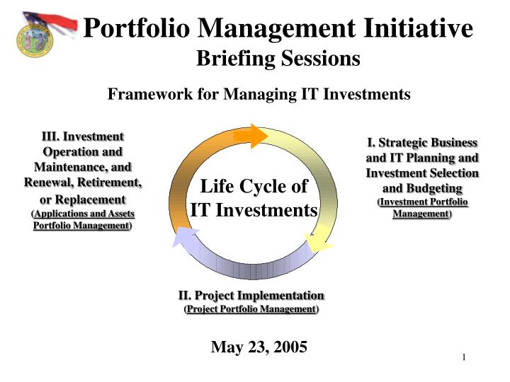 portfolio management initiative briefing sessions n.