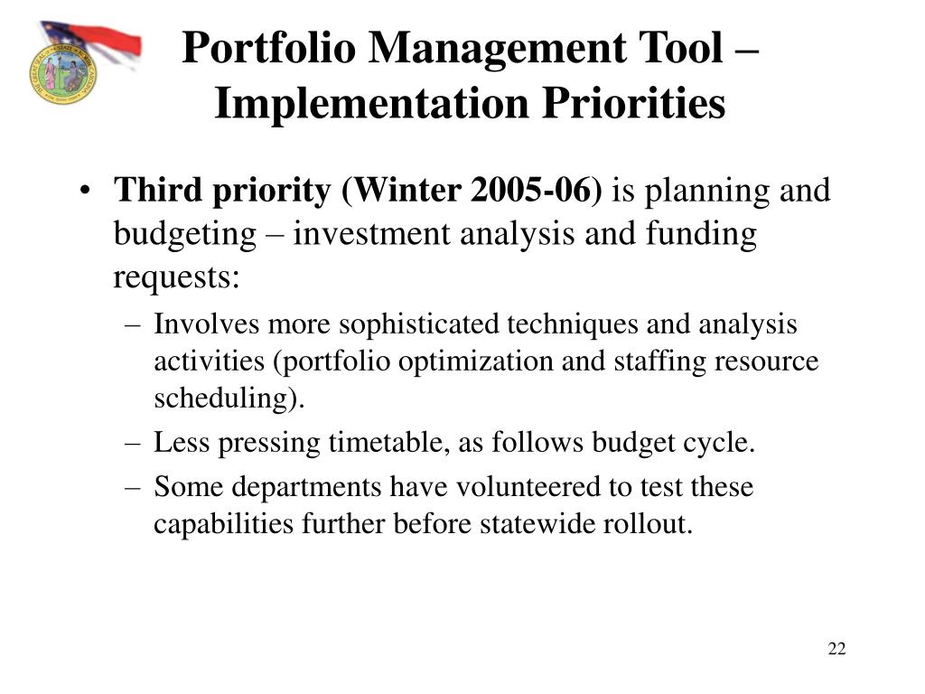 PPT - Portfolio Management Initiative Briefing Sessions PowerPoint