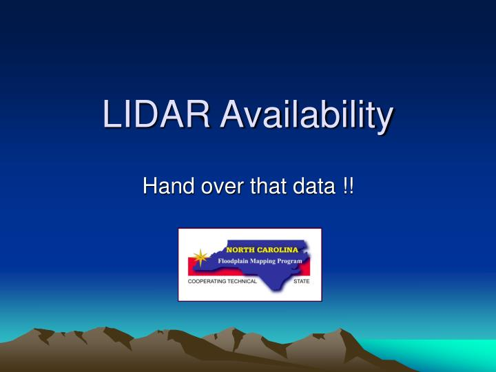 LIDAR Availability
