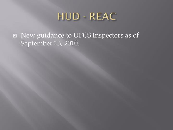 HUD - REAC