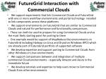 futuregrid interaction with commercial clouds