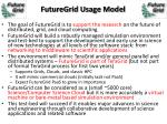 futuregrid usage model