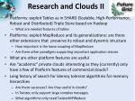 research and clouds ii