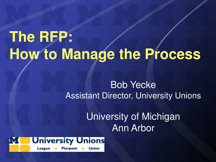the rfp how to manage the process n.