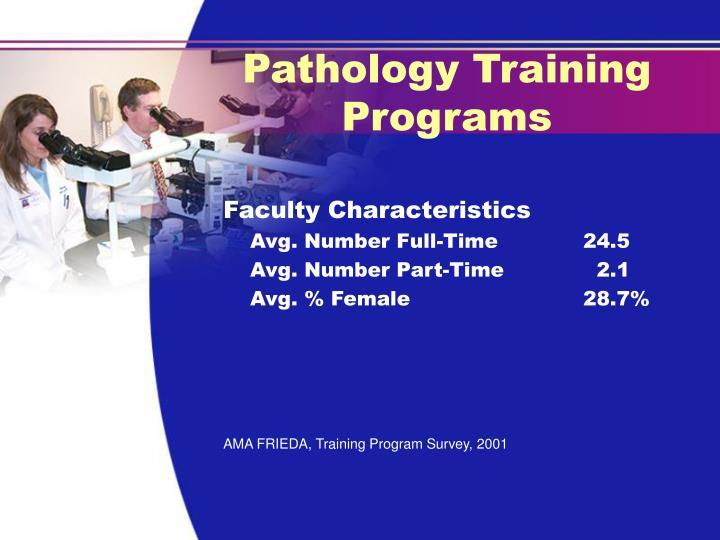 Pathology Training Programs