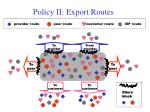 policy ii export routes