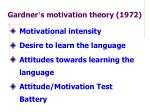 gardner s motivation theory 1972