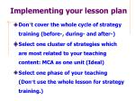 implementing your lesson plan
