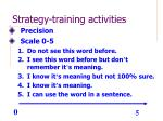 strategy training activities