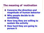 the meaning of motivation