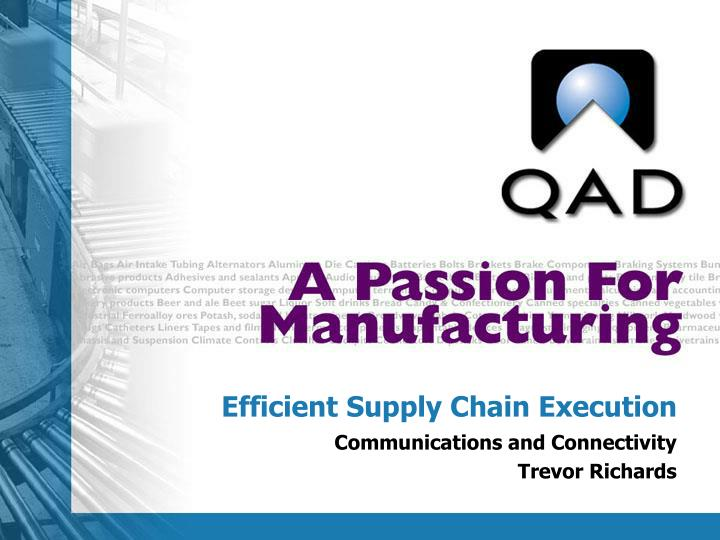 efficient supply chain execution n.