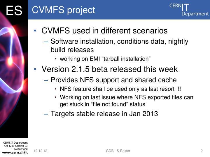 Cvmfs project