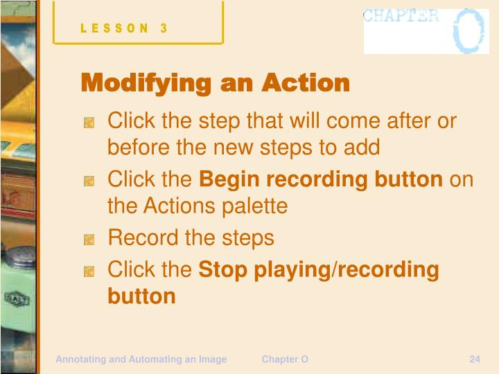 Click the step that will come after or before the new steps to add