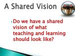 a shared vision