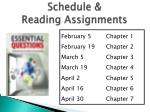 schedule reading assignments