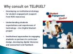 why consult on tel@uel1