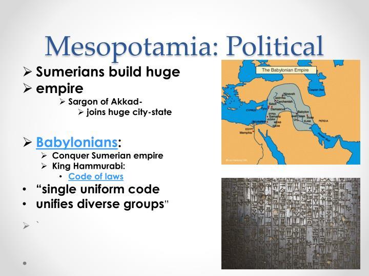 Mesopotamia: Political