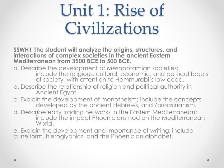 Unit 1 rise of civilizations