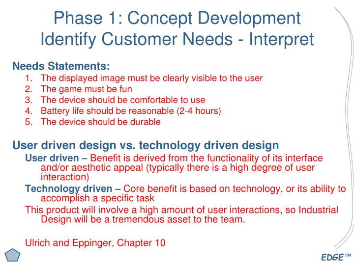Phase 1: Concept Development