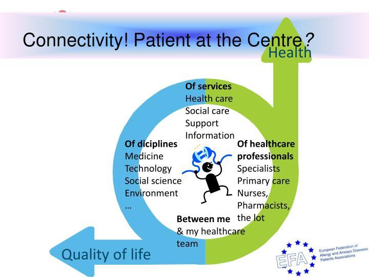 Connectivity! Patient at the Centre