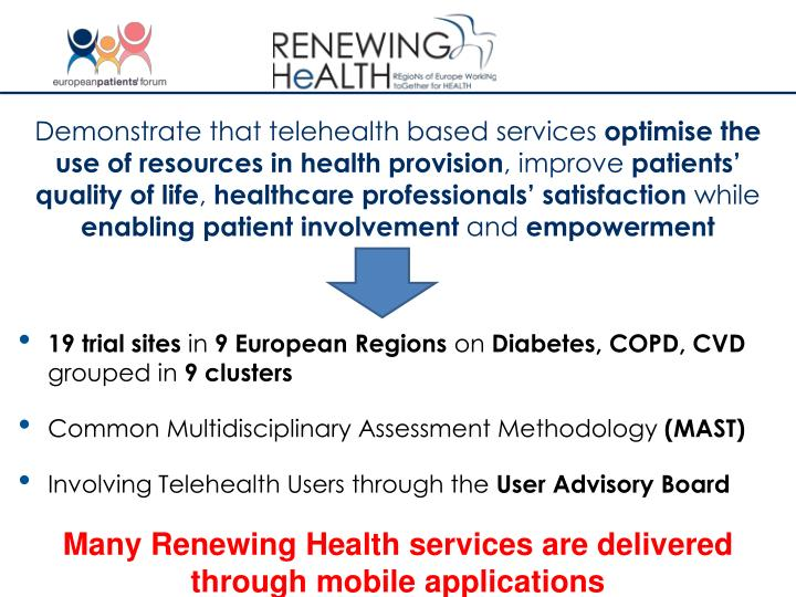 Demonstrate that telehealth based services