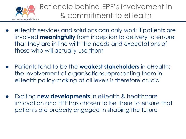 Rationale behind EPF's involvement in