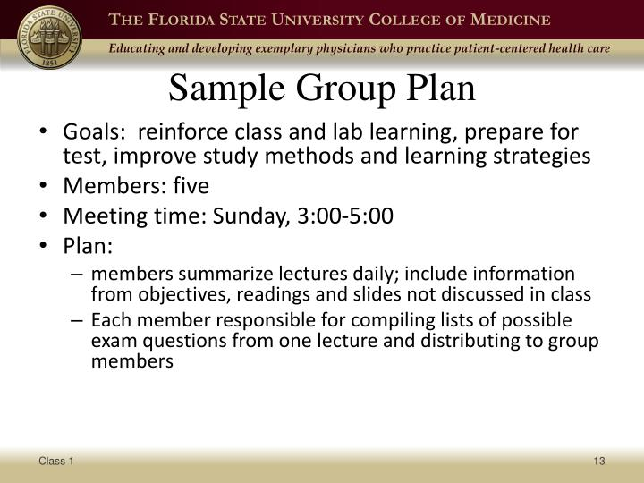 Sample Group Plan