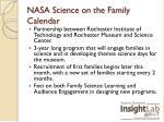 nasa science on the family calendar