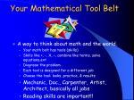 your mathematical tool belt
