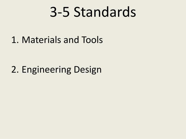 3-5 Standards