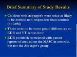 brief summary of study results