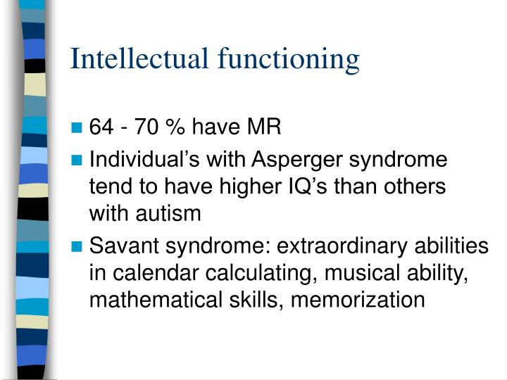 Intellectual functioning